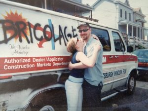"""On my trip back to Pittsburgh to visit Jeffrey for the first time he picked me up at the greyhound station in this van. My first thought was 'what have I gotten myself into?' 11 years later I'm still thinking the same thing."" - Tami Dixon"