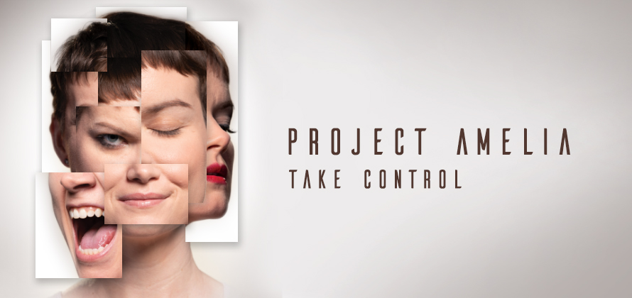 An image of a woman's head and shoulders in complete shadow. The black silhouette is trimmed in a glowing blueish purple. In white, to the right of the image, it says Coming Fall 2019. Beneath is the Bricolage logo and Probable Models in a grey color.